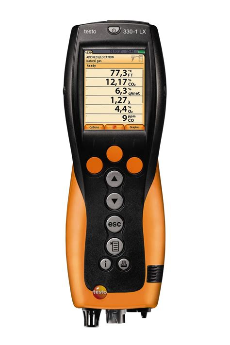 a testo testo 330 1 lx combustion analyzer combustion flue gas
