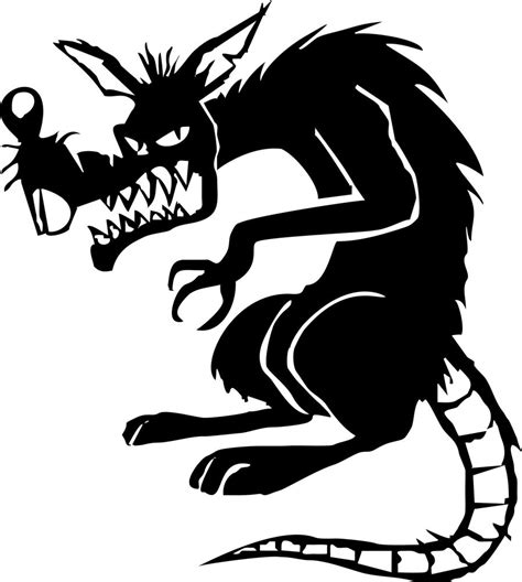 Scary Home Decor by Evil Rat Mouse Animal Car Truck Window Laptop Vinyl Decal