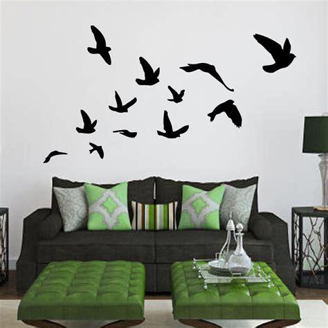 interior wall stickers bird wall decals birds flying home interior by decalmyhappyshop