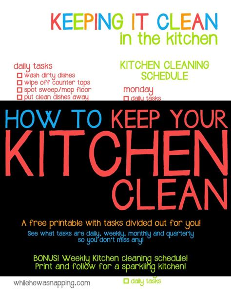 keep kitchen clean how to keep your kitchen clean while he was napping