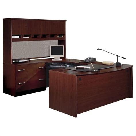 C Shaped Desk Bush Business Series C Executive U Shape Wood Desk In Mahogany Bsc019 367