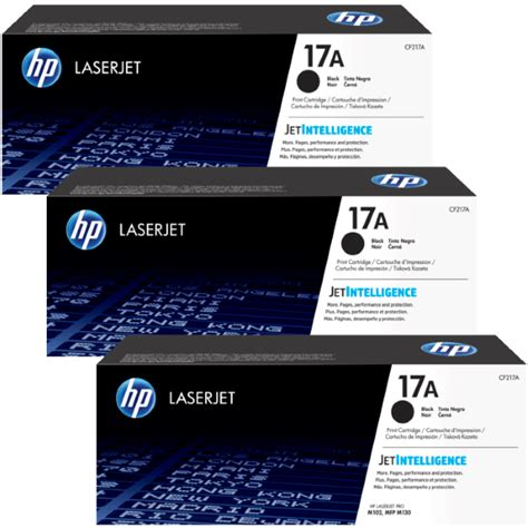 Toner 17a genuine hp 17a toner cartridge 3 pack cf217a printzone