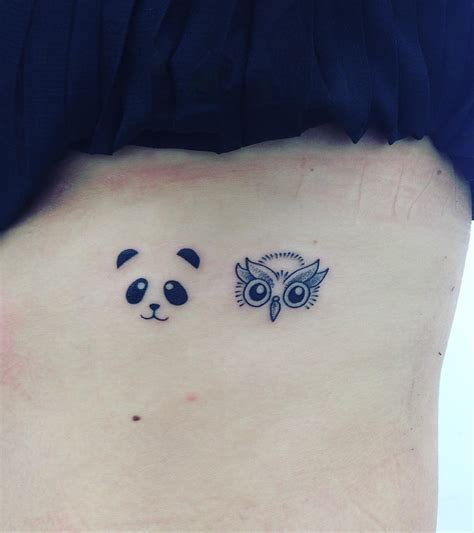 small butt tattoo panda on my