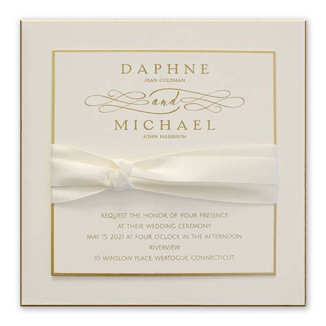 Gold Wedding Invitations by Satin And Gold Invitation Invitations By