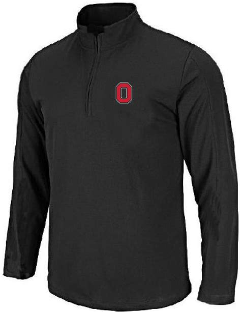 Ohio State Buckeyes Black Block O Embroidered Quarter Zip