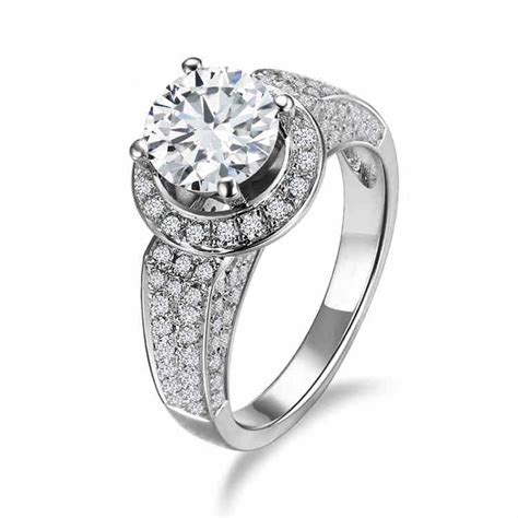 High End Engagement Rings by High End Luxury Jewelry 925 Silver Inlaid Cubic Zirconia
