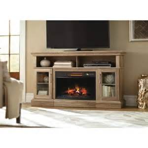tv stand with fireplace home depot home decorators collection hawkings point 59 5 in rustic