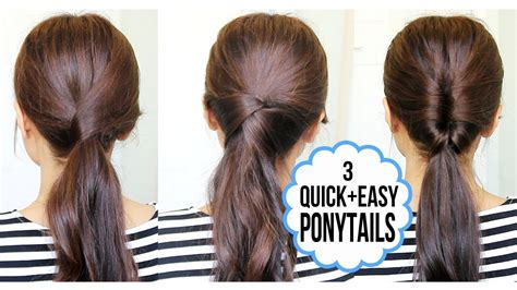 Picture Of Hairstyles by Running Late Ponytail Hairstyles Hair Tutorial