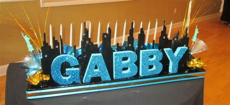 candle lighting york skyline candle lighting board for nyc theme bat mitzvah by