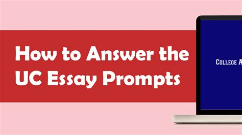 How To Answer On A Application Answering Uc Prompts 1 2 Tutorial