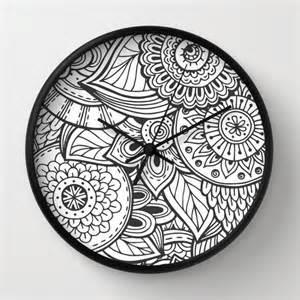 Cool House Clocks mandala clock cool mandala clock modern clock the