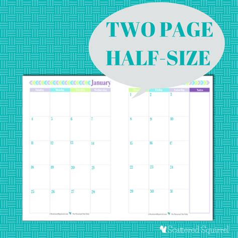 free printable planner half size 2015 calendar printables you asked i m answering