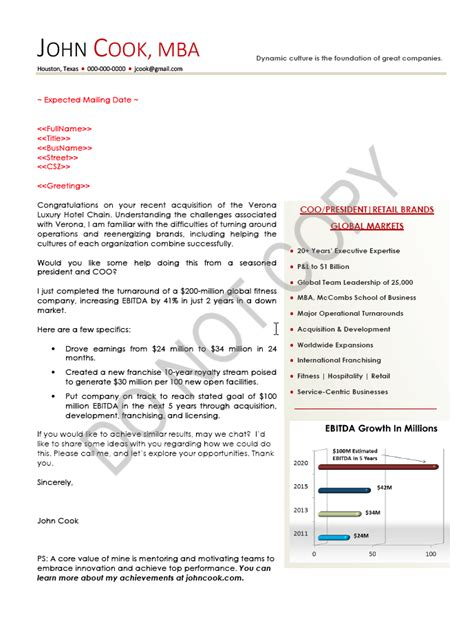 executive cover letter exles ceo executive cv sle chief executive officer executive
