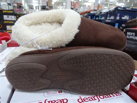 costco slippers dearfoams microfiber suede clog