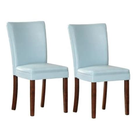 homesullivan light blue parson dining chair set of 2