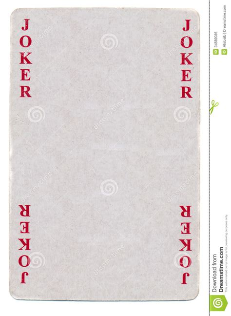 vintage joker playing card paper background stock photo