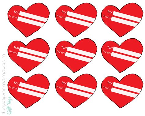 printable heart gift tags heart gift tags