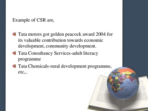Mba Csr Of Tata by Business Ethics And Social Responsibility