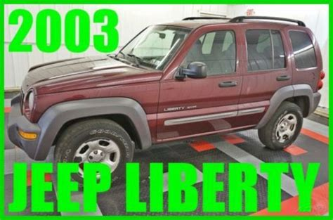 how to sell used cars 2003 jeep liberty parental controls sell used 2003 jeep liberty sport suv v6 one owner 4x4 sunroof 60 photos must see in
