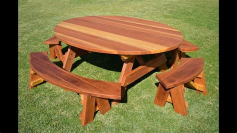 wood picnic table wooden picnic table youtube