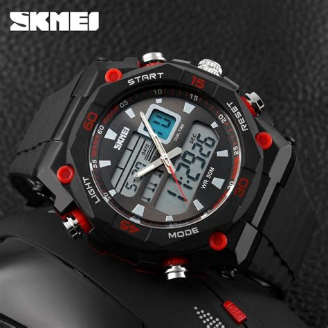 Jam Tangan Pria Sport Casio Original Skmei Gaul Led Anti Air Putih jual jam tangan pria original skmei casio sporty water