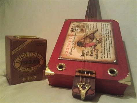 Handmade Cigar Box Guitars - custom cigar box guitar 3 or 4 string fretless by
