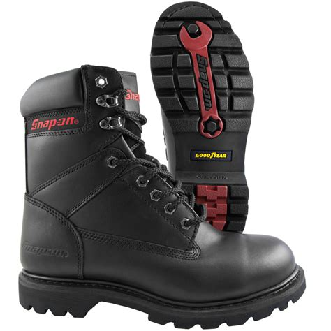 snap on boots snap on v8 8 inch steel toe work boot coastal boot