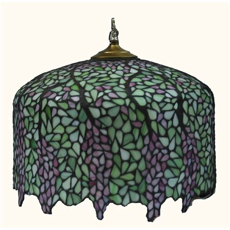 leaded glass l shade tiffany style wisteria leaded stained glass lamp