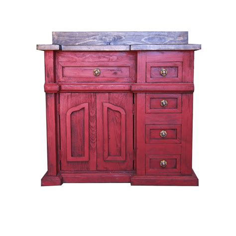 red bathroom vanity order custom made rover red rustic vanity