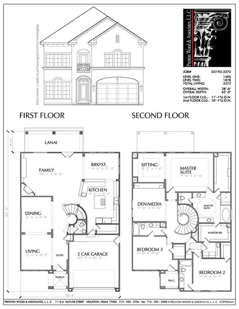 Floor Plan 2 Story House by Choosing The Home Floor Plan