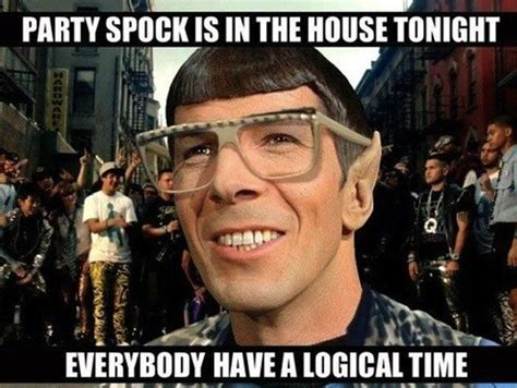 Geek Birthday Meme - irti funny picture 1409 tags spock star trek party