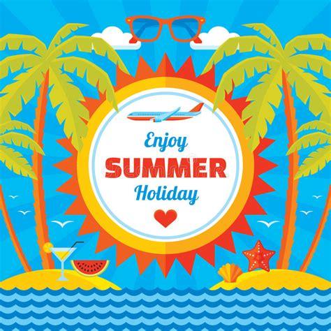 Enjoy Summer enjoy summer vector concept banner in flat style