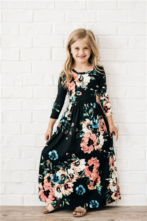 kids floral maxi dress  colors  styles girls maxi