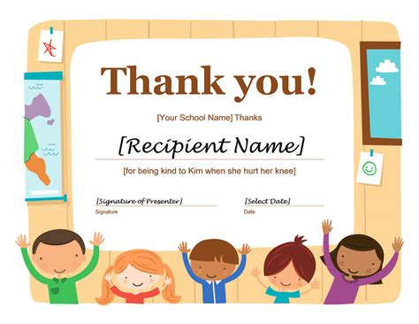 templates for thank you certificates thank you certificate free printable certificates