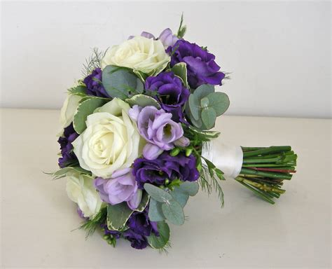 Wedding Bouquet Of Flowers by Wedding Flowers Alannah S Purple Wedding Flowers