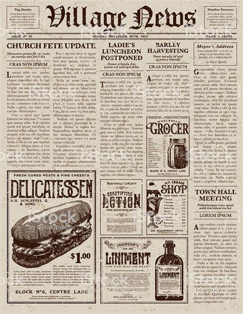 adobe illustrator newspaper template vintage style newspaper design template stock