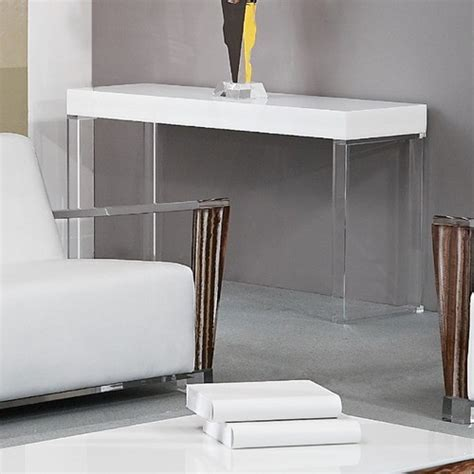 contempo acrylic console table modern coffee tables