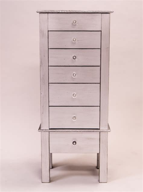 Silver Jewelry Armoire by Jewelry Armoire Silver Leaf Hives And Honey
