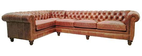 Galloway Chesterfield Leather Sectional Leather Chesterfield Sectional Sofa