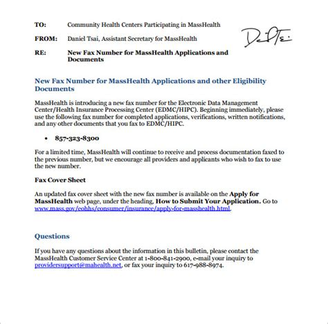 sle masshealth fax cover sheet sle masshealth fax cover sheet 8 documents in pdf word