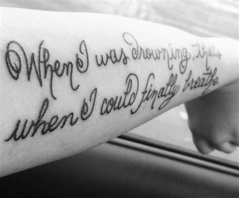 tattoo moi lyrics song lyric tattoos eight faves something cool