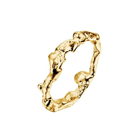 Handmade Cornish Jewellery - driftwood cornish 9ct yellow gold handmade ring from cornwall