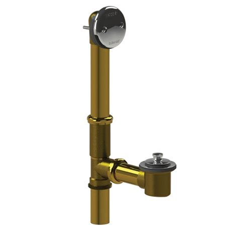 watco bathtub faucets watco 501 series 16 in tubular brass bath waste with lift