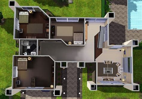 modern house floor plans sims 3 house plans and design modern house plans sims 4