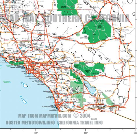 california map of highways california map freeways