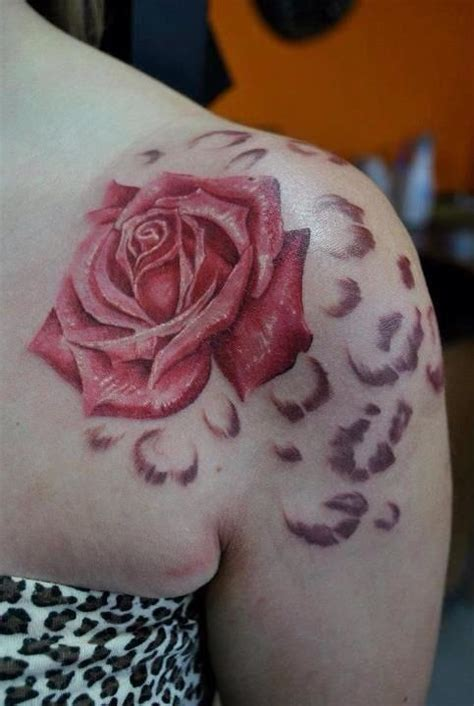 roses and leopard print tattoo and leopard print stuff