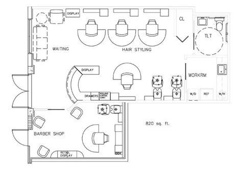 beauty salon floor plan design layout 3375 square foot barber shop floorplan design layout 820 square feet