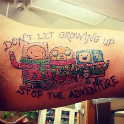 adventure time tattoo charming exles of adventure time tattoos