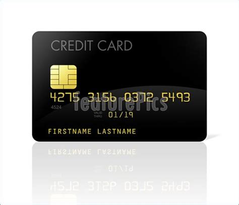 Credit Card Black Template Finance And Currency Black Credit Card Stock Illustration I2614712 At Featurepics