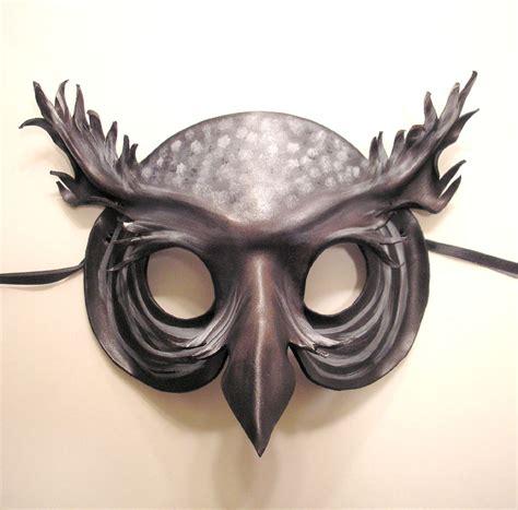 leather mask spirit owl leather mask by teonova on deviantart